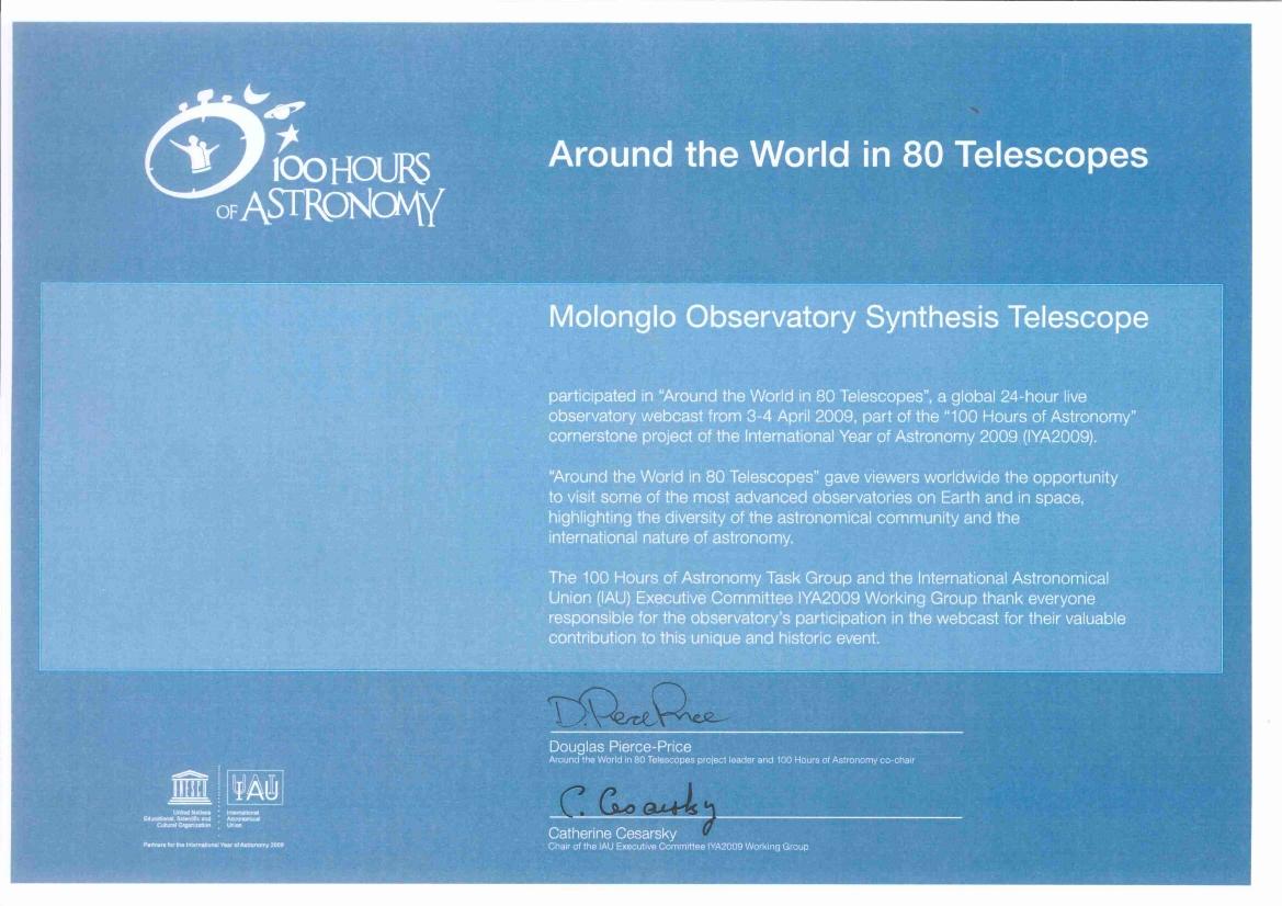 Astrophysics technical university of sydney